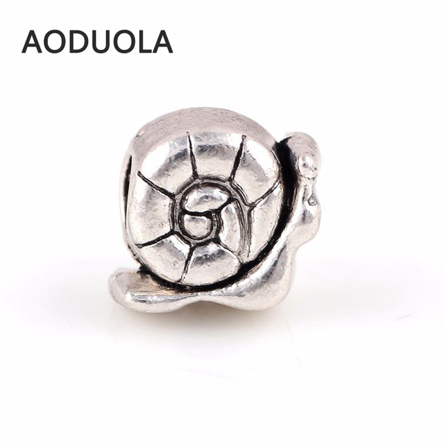 10 Pcs a Lot Silver Alloy Beads Snails Shape With Love DIY Big Hole Beads  Spacer 06e6ca0b61aa