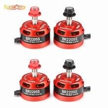 4PCS Racerstar Racing Edition 2205S BR2205S 2300KV 2-4S Brushless Motor Red For X210 220 QAV250 FPV Frame RC Racer Racing Drone