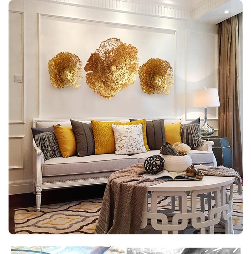 Moderna attaccatura di parete della decorazione in ferro battuto Creativo soggiorno tridimensionale Fiori e ricchezza