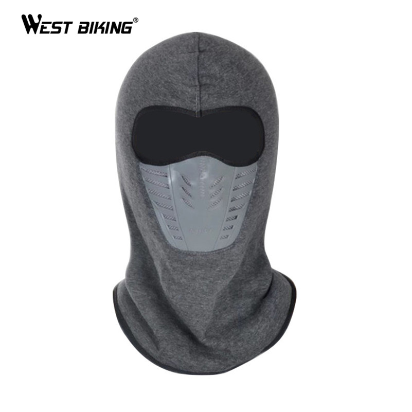 WEST BIKING Winter Dust-proof Cycling Face Mask Fleece Warm Windproof Ski Mask Snowboard Hood Bike Thermal Balaclavas Face Mask road mountain bike mtb bar end aluminum alloy folding bicycles handlebar handle bar ends