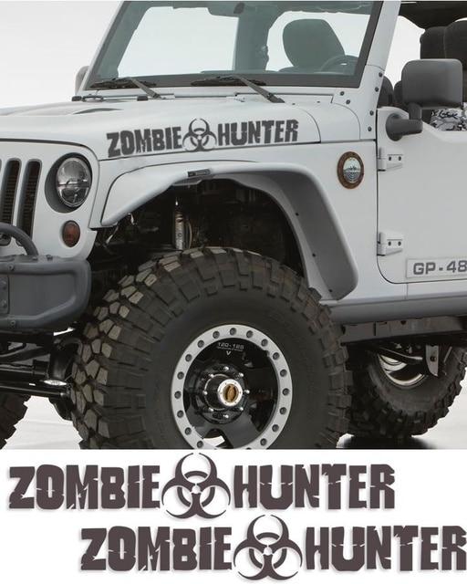 styling de voiture pour 2 pcs zombie hunter walking dead autocollant rponse quipe voiture wrangler apocalypse - Zombie Voiture