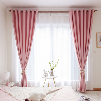 High Quality Solid Color Cotton Linen Curtain For Living Room Bedroom Decor Modern Window Curtains Drapes