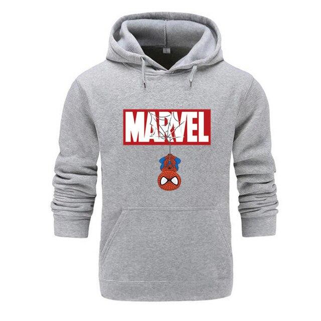 Marvel Hoodies Men Brand 2019 New Spiderman Funny Long Sleeve Hooded Sweatshirt Mens Hoodie Tracksuit Sweat Coat Casual homme 2