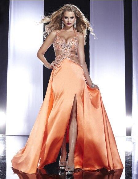 Livraison gratuite 2013 nouveau mode vestidos de festa fête formelle perle de cristal robe élégante sexy dos nu longues robes de bal