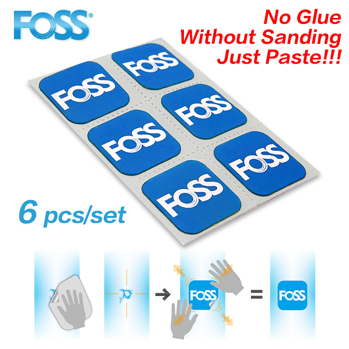 HOT 6pcs/lot Foss Bicycle Tire Patch Mountain Bike Road Bike Repair Tools Inner Tube Glue Tire Patch Sandpaper Free Shipping