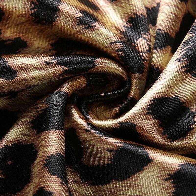 Darlingaga Fashion Turtleneck Leopard Print Dresses Long Sleeve ... 98d5faddb