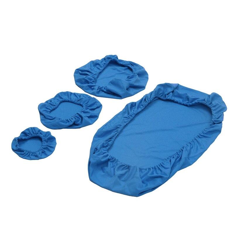 4 pçs/set Tecido Elástico Tampa Da Cadeira Odontológica Unidade Dentista Stool Assento Encosto Travesseiro Lavável Dustproof Capa Protector 7 Cores