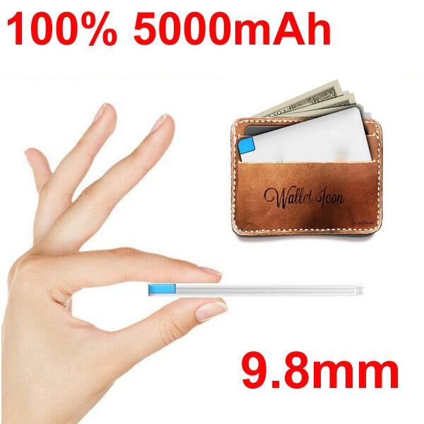 Powerbank Mini Credit Card 5000mAh Universal Portable Charger External Backup Power Bank for Samsung Xiaomi HTC