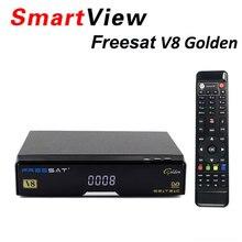 [Подлинный] V8 Золотой DVB-S2 + DVB-T2 + DVB-C спутниковый ТВ комбинированный приемник Поддержка powervu Newcamd лучше, чем Openbox V8 Pro Combo
