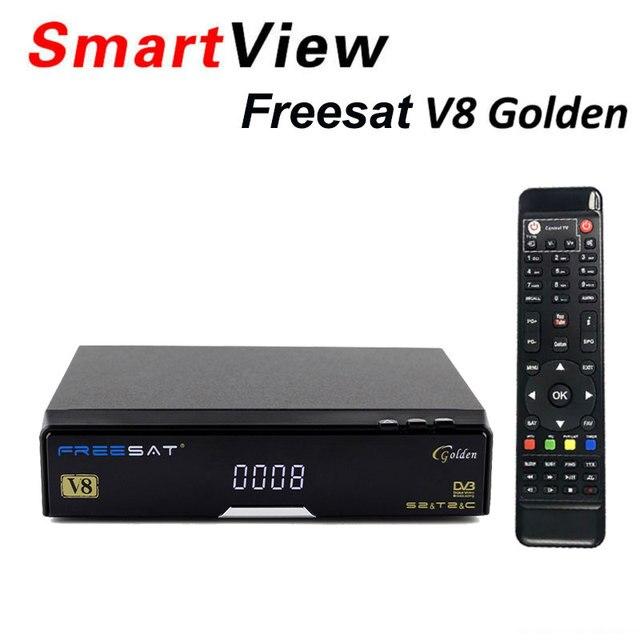 [Genuine] V8 Golden DVB-S2 + DVB-T2 + DVB-C Satellite TV Combo Receiver Support PowerVu Newcamd better than Openbox v8 pro combo