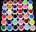 Новые 36 Горшки Обложка Чистые Разных Цветов УФ-Гель Установить Nail Art Советы Расширение Маникюр