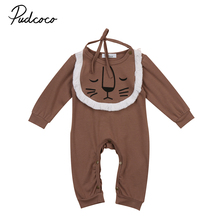 Pudcoco Newborn Baby Girl Boys Cotton Cute Romper Long Sleeve Jumpsuit Playsuit New Fashion Autumn Clothes Outfits