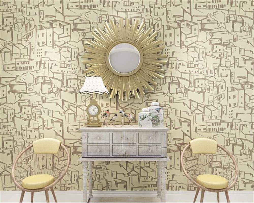 beibehang papel de parede Mediterranean children's room wallpaper living room bedroom background wallpaper for walls 3 d tapety beibehang american wooden imitation clothing store 3d stereo wooden wallpaper mediterranean living room bedroom papel de parede