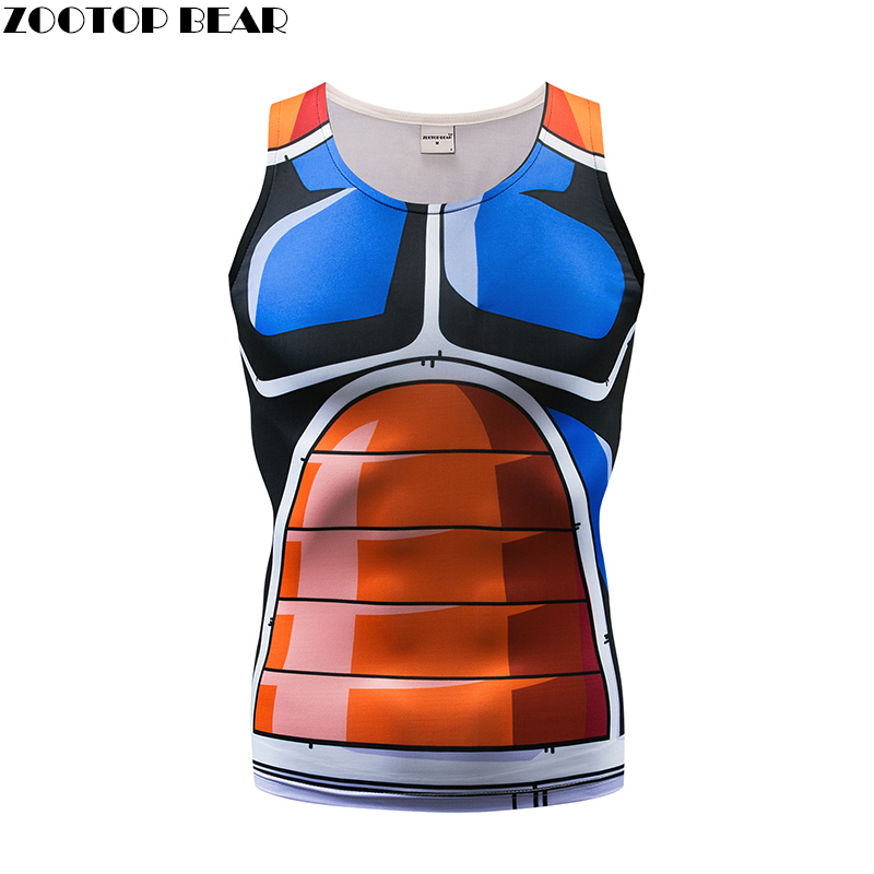 2018 New   Tank     Tops   Men Vest Male singlet Anime   Top  &Tee Fitness Hit Color Tight Bodybuilding Sleeveless Summer Muscle ZOOTOP BEAR