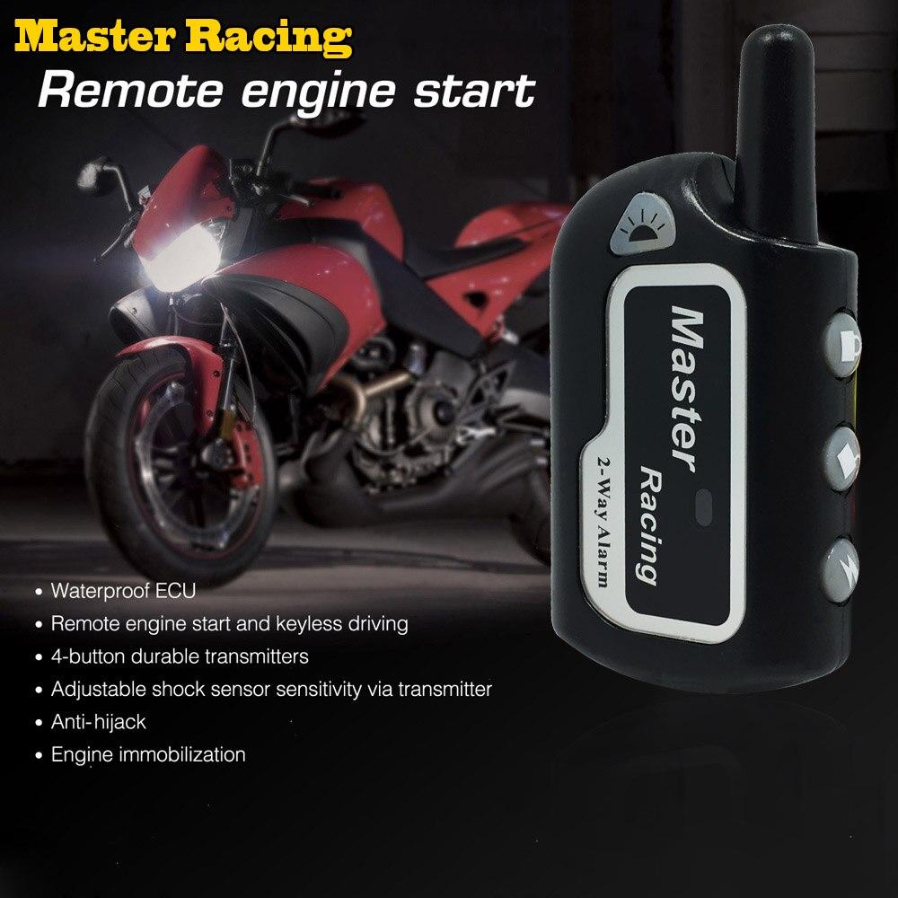 Deux Façon Alarme Moto Scooter Anti-vol D'alarme À Distance Démarrage Du Moteur 2 Voies de Sécurité D'alarme Moto Protection Contre Le Vol Pour moto