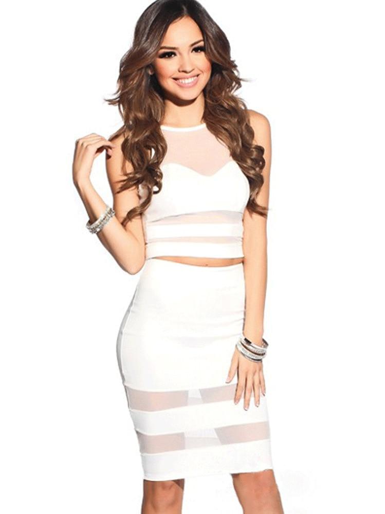 Aliexpress.com : Buy New Hot Party Dresses 2014 women two piece ...