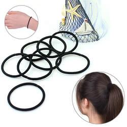 40 шт. Женская эластичная резинка для волос черный шнурок для волос повязка на голову женские головные уборы резинки хороший подарок