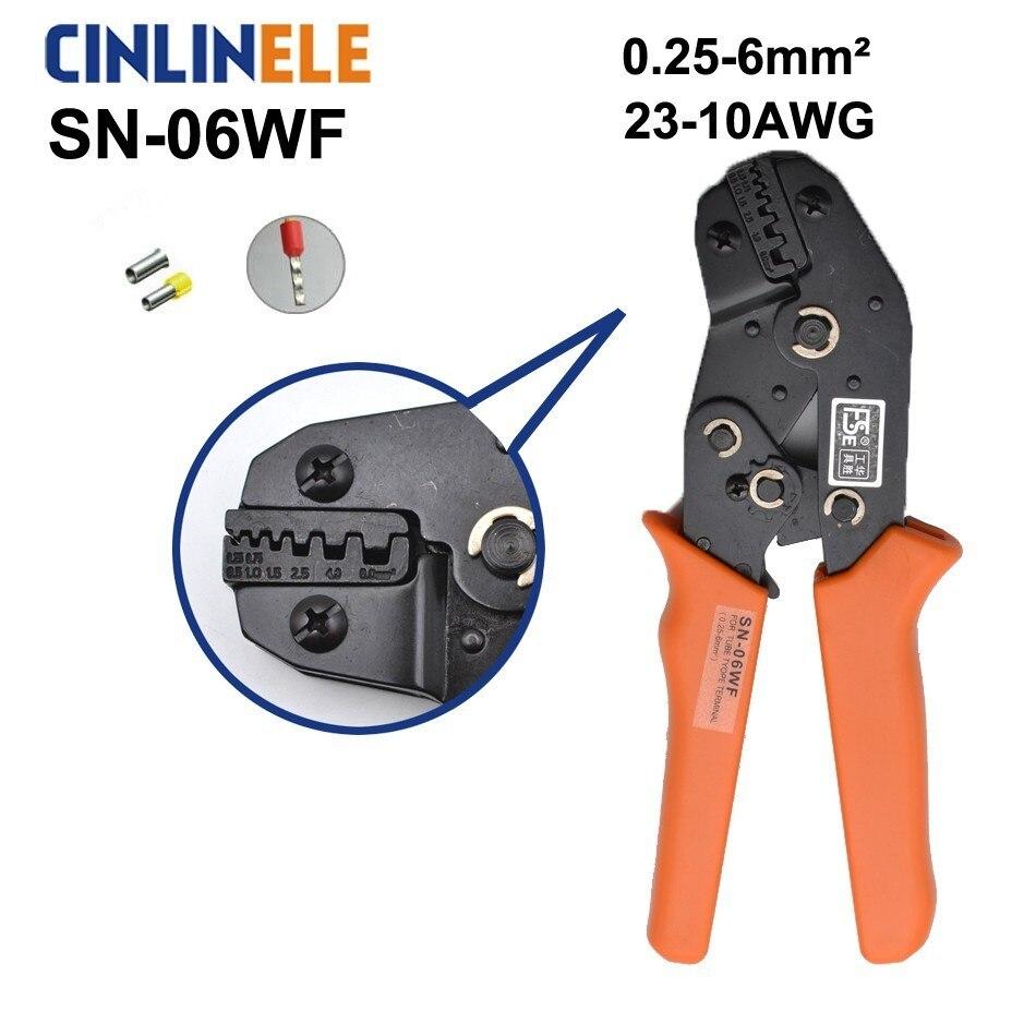 Zangen Freies Verschiffen Sn-06wf 0,25-6,0mm 23-10awg Mini Art Selbst Einstellbare Crimpen Hand Zangen Elektrische Draht Terminals Crimper Werkzeuge