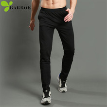 BARBOK Autumn sports leggings yoga trouses Spandex polyester material breathable fitness legging jogging pants men running