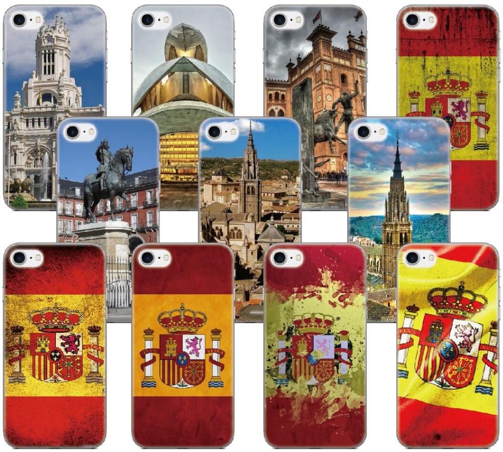 Spain Flag City Capa Case For Samsung Galaxy A5 A7 2018 Version S9 Plus S5 S6 S7 Edge Note 3 4 5 E5 Phone Cover Coque Fundas
