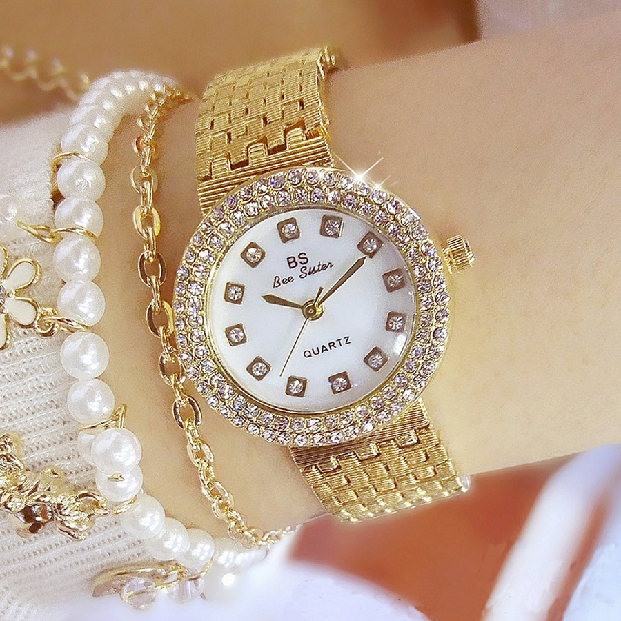 High Quality Fritillary Dial Watch Women Top Brand Luxury Gold Ladies Watch Waterproof Fashion Hot Quartz Women Watches BS