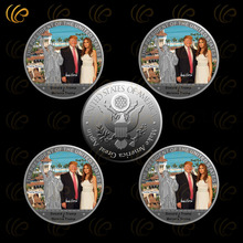 24k 999.9 Silver Coin The President Trump and The American First Lady Melania Metal Coin Good Quality Metal Crafts for Besr Gift