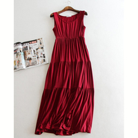 New Women Solid Color Long Dress Summer Fashion Llarge Size Women Clothing Loose Casual Dress Pregnant Dress Plus Size DL2487