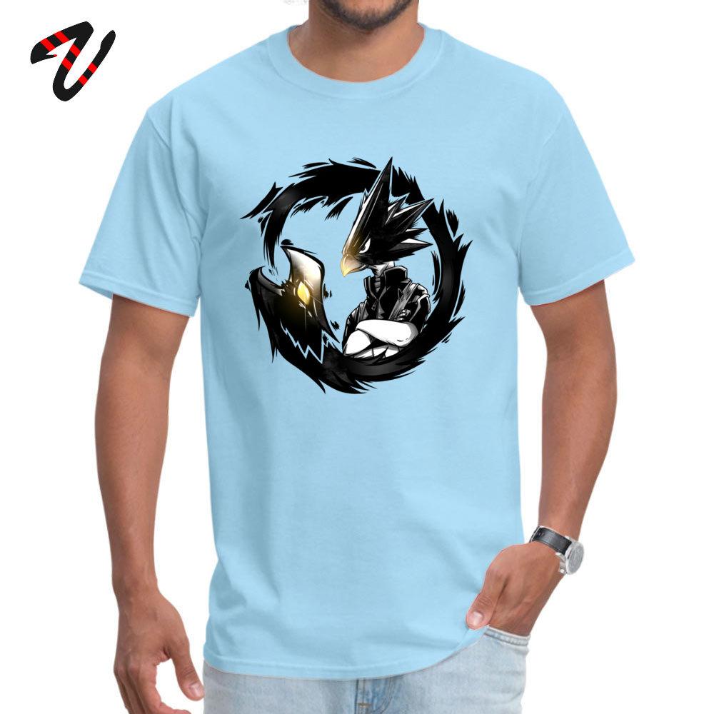GiftPrinted On Short Sleeve Tops & Tees April FOOL DAY 2018 O Neck 100% Cotton Fabric Tee Shirt Young T-Shirt Funny  Dark Shadow - My Hero Academia! -16983 light