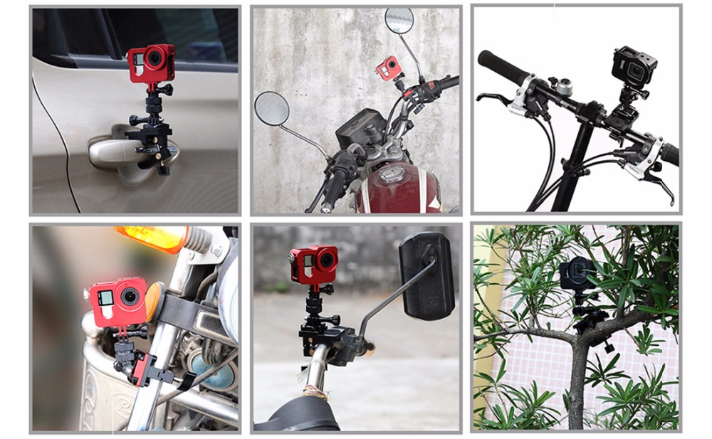 Universal Bicycle Motorbike HEAVY DUTY Bar Mount Holder Clamp for Digital Camera