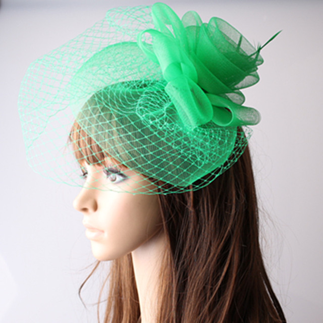 05371cf217465 Ladies elegant feather flowers women hair accessories fancy fascinators for wedding  hats bridal hats with veil