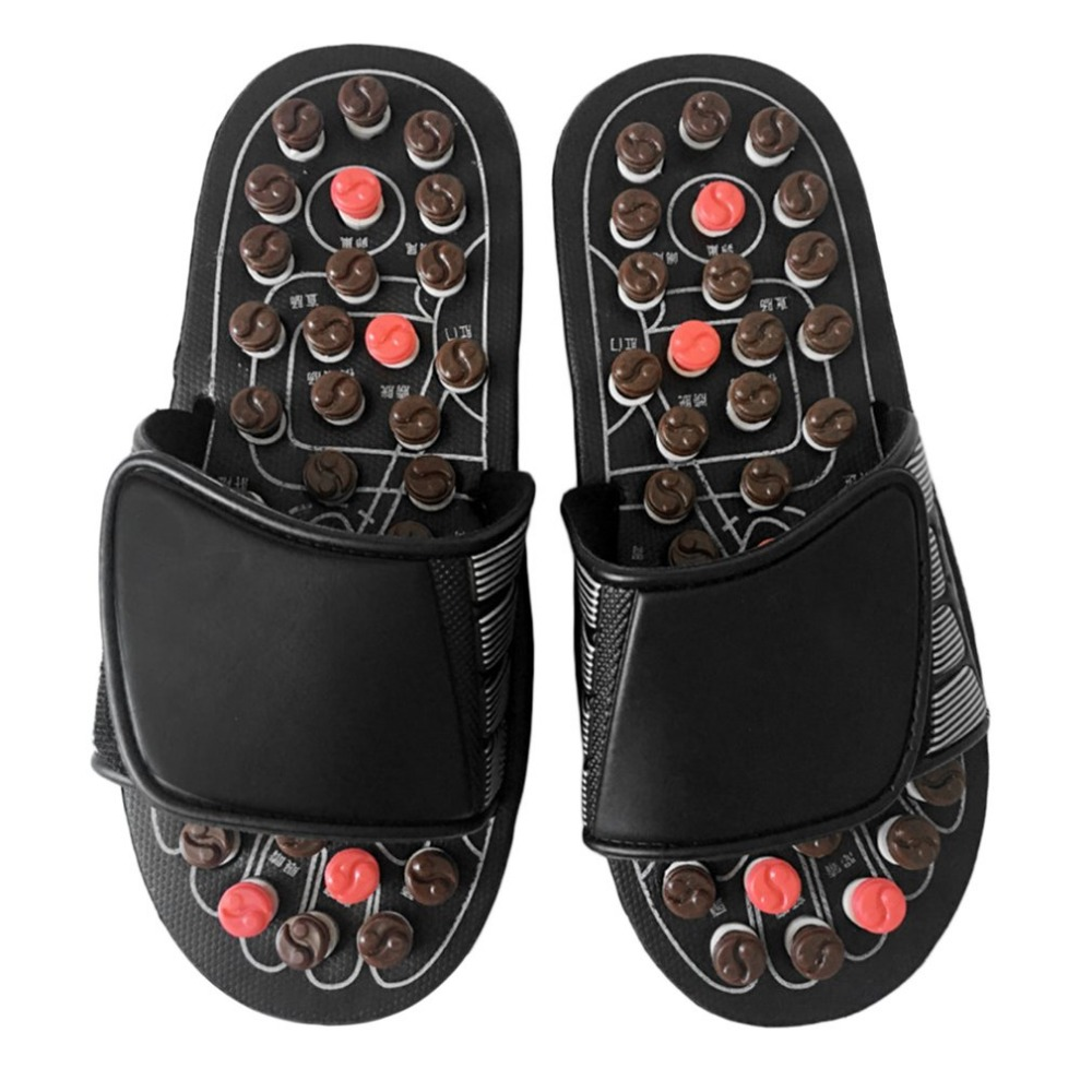 1 Pair Foot Massage Slippers Health Care Shoes Feet Health Care Product Pebble Stone Massager Reflexology Massage Sandals Home foot massage relaxant heating therapy reflexology 3d foot massager beauty and health care infrared shiatsu feet detox massager