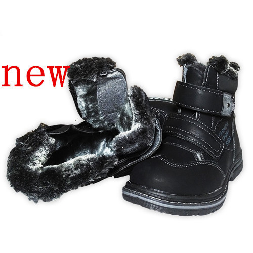 Big Sale 1pair -20 degree Winter warm Snow Boots, Children Boot cotton-padded shoes, Kids PU Leather Boy Shoes