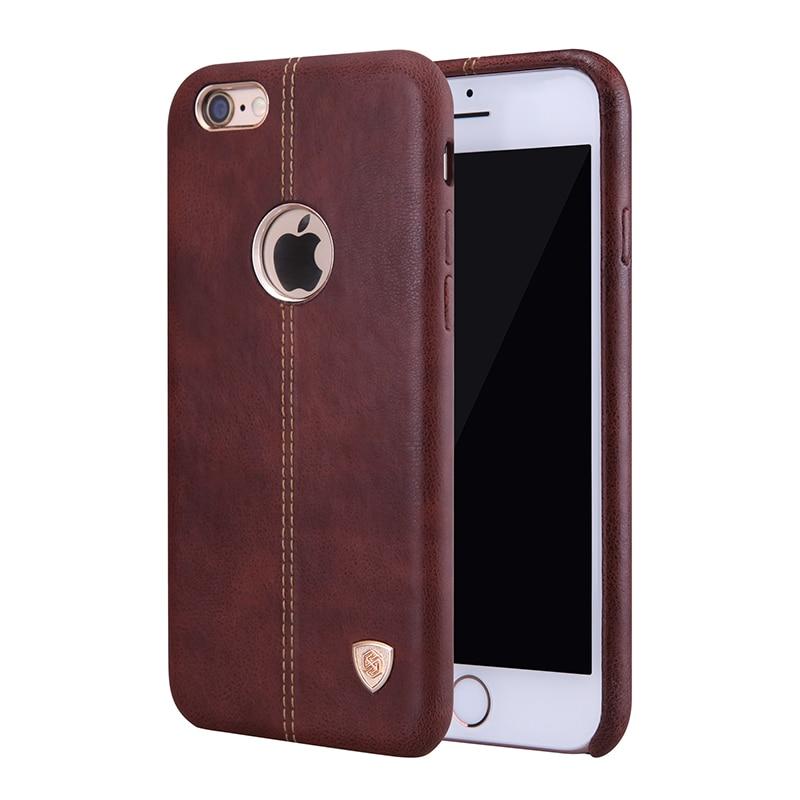 imágenes para Nillkin caso lether pc englon vintage pu de cuero contraportada coque para iphone 6 6 s (4.7 '') 6 plus (5.5'') en forma magnética soporte para coche