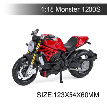 Maisto 1:18 Motorcycle Models Ducati 1200S Red Diecast Moto Miniature Race Toy For Gift Collection
