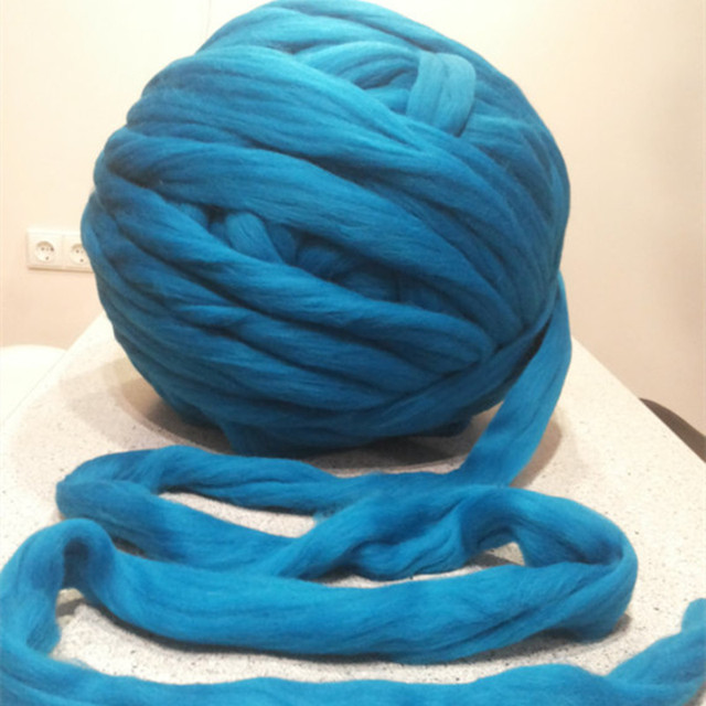 a547396dcd23 New 500G Super Thick Chunky Yarns For Knitting Merino Wool Yarn 3 4 ...