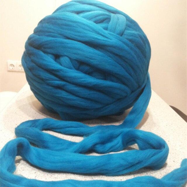 nouveau 500g super pais chunky fils pour tricoter laine m rinos fil 3 4 cm pais pas cher fils. Black Bedroom Furniture Sets. Home Design Ideas