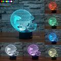 NFL Atlanta Falcons 3D Night Light 1 Set Free Shipping 7 Colors Change LED Table Lamp Xmas Gift Creative Night Lamp