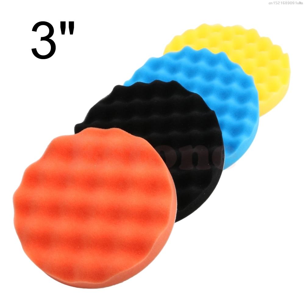 2018 Nice 4Pcs 3 Inch (80mm) Buffing Polishing Sponge Pads Kit For Car Polisher Buffer