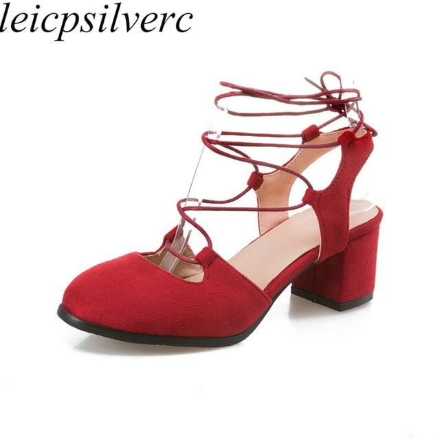 ac0a8d70 Mujeres bombas zapatos tacones altos Sexy nueva moda cuadrado tacón punta  redonda 2018 primavera otoño Flock