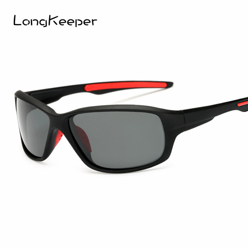 LongKeeper Mens Polarized Cycling Glasses Women Men Sports Sunglasses Biking Glasses Polariod Lens Goggles Eyewares steampunk vintage sunglasses men brand designer round sunglasses steam punk metal coating sun glasses women retro oculos de sol
