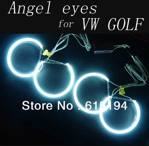 Car CCFL Angel Eyes Halo Ring Lights Lamp Led VW GOLF 4 5 SerAngel 2 Inverters 4pcs/setor White Blue Red Choose - Guangzhou Top Store store