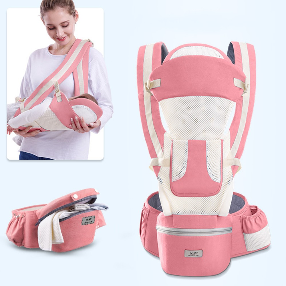 0-48M Ergonomic Baby Carrier Infant Baby Hipseat Carrier Front Facing Baby Wrap Sling For Travel 24