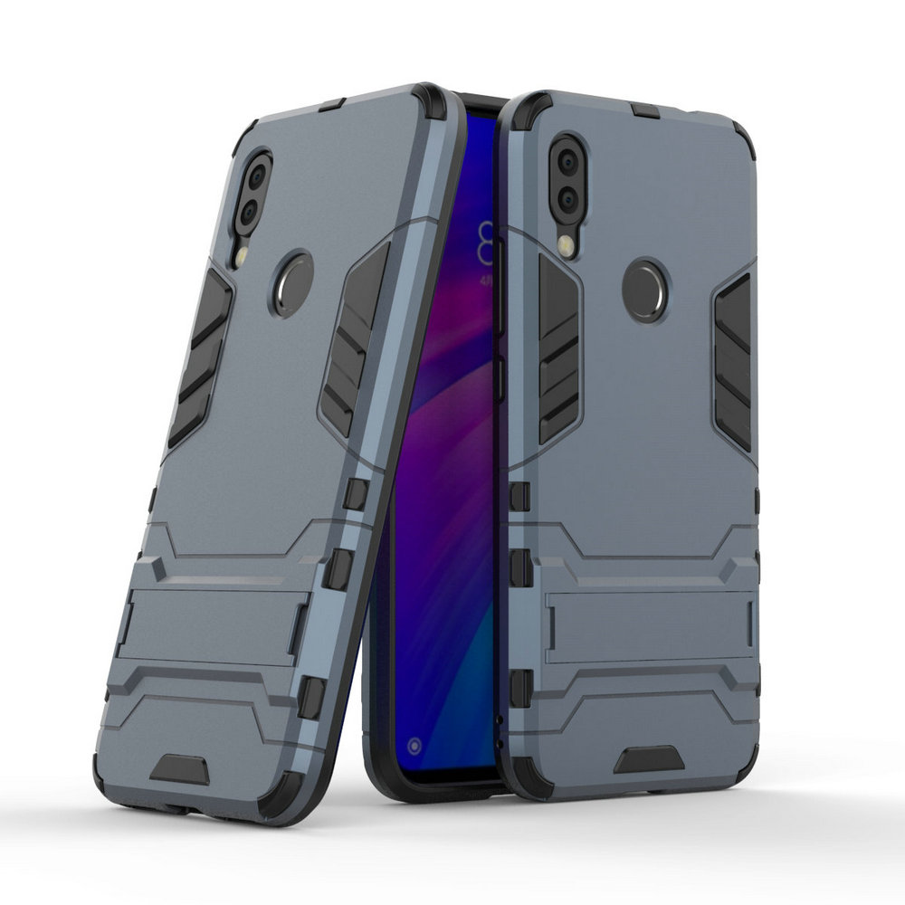 3D Combo Armor Case for <font><b>Xiaomi</b></font> Redmi <font><b>7</b></font> Redmi7 for <font><b>Xiaomi</b></font> Redmi <font><b>Note</b></font> <font><b>7</b></font> Pro 16GB 32GB 64GB Shockproof Phone Back cover Case image