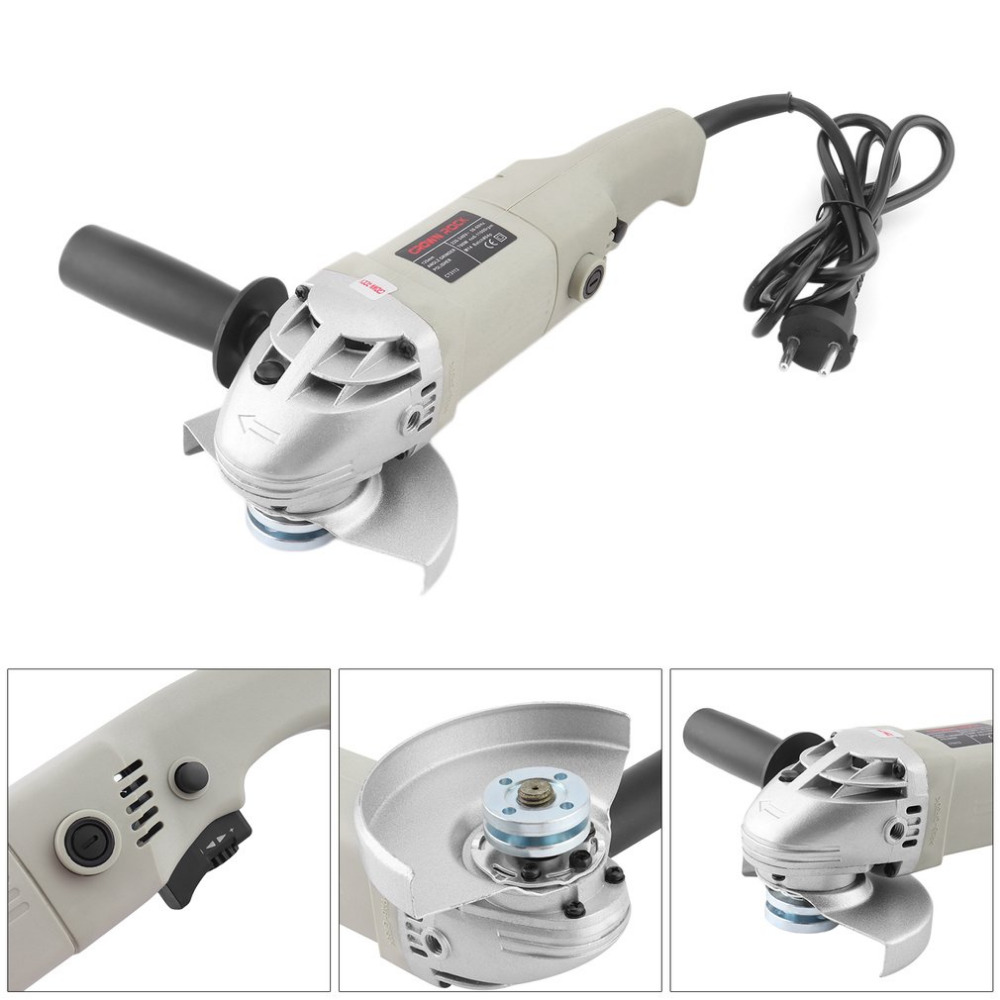 125mm Diameter Electric Angle Grinder 180 Degree Rotatable Handle Polisher Professional Grinding Machine Electric Hand Mill