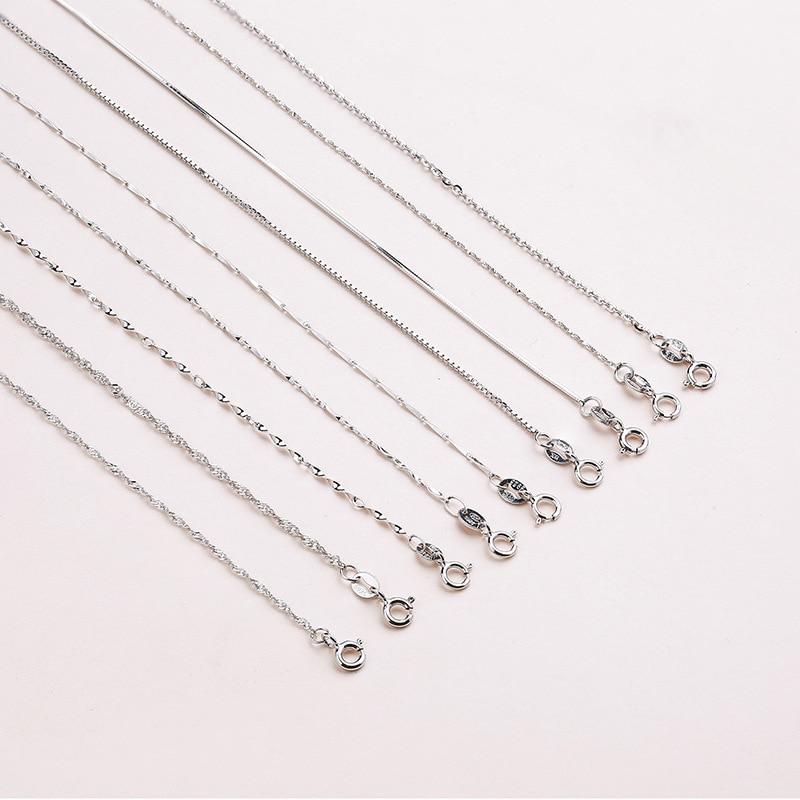 Κλασικό βασικό αλυσίδα κολιέ 100% 925 - Κοσμήματα μόδας - Φωτογραφία 4
