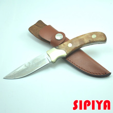 High-quality wooden small hunting knife shadow tactical knife outdoor hunting camping knife tool knife gift