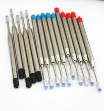 10 Pcs /Lot, ( Black )BALLPOINT Pen Refill For ,New Design Pen Rods / Wholesale price luxury metal gel pen refill