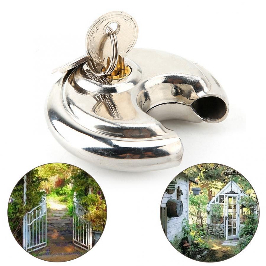 304 Stainless Steel Antirust Padlock Set with Key for Warehouse Gardens code lock candado cerradura in Locks from Home Improvement