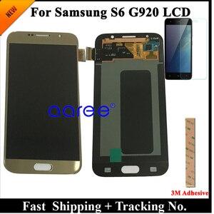 Image 3 - الصف AAA سوبر AMOLED لسامسونج S6 شاشة الكريستال السائل S6 G920F لسامسونج S6 G920 عرض LCD شاشة مجموعة رقمنة اللمس