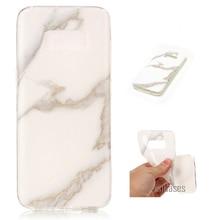 Para Samsung S8 caso suave TPU silicona caso de mármol pintura cubierta trasera caso para Samsung Galaxy S8 G950